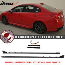 Fits 15-18 Subaru WRX OE STI Style Side Skirts Splitter - ABS