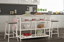 August Grove Geary Kitchen Island Set with Granite Top