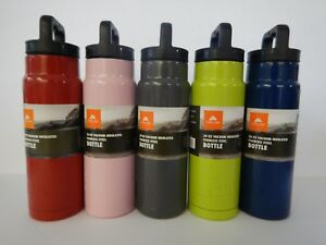 24 Oz Insulated Stainless Steel Sport Water Bottle Blue Green Red Pink Gray