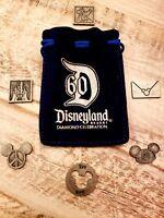 ❤️ Rare DISNEYLAND 60th Anniversary DIAMOND Celebration Pocket Coins