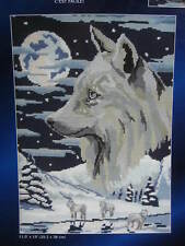 Wolves & Moon Needlepoint Canvas - Leisure Arts Designs for the Needle