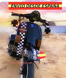 Kit Vinilos Cuadrados Laterales moto Scooter Vespa Piaggio Lambretta