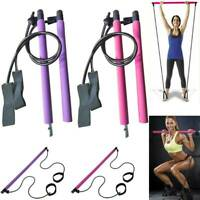 Gym Portable Pilates Bar Stick Home Fitness Sports Exercise with Resistance Band