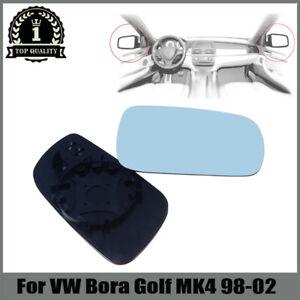 Pair Blue Heated  Mirror for Volkswagen VW MK4 Bora Golf Passat 2000-2004 RH&LH