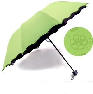 Mini Colorful Anti-UV Parasol Flower Folding Sun Rain .Windproof Dome-Umbrella