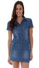 Denim Short/Mini Shirt Dresses