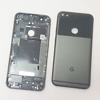 Quite Black Battery Back Cover Rear Plate Fits Google Pixel Genuine Part