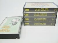 Lot of 5: All-Time Sing Along Favorites #1-4 & Mitch Cassettes Readers Digest