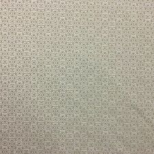 QUALITY GEOMETRIC OFF WHITE & STONE PATTERNED UPHOLSTERY FABRIC MATERIAL SALE!
