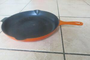 La Creuset 30 cm Pfanne Volcanic Orange Gusseisen