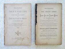 2 CANADIAN FREEMASON PROCEEDINGS Prince Edward Island & Ottawa MASONIC 1871-1894