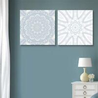 """Wall26 - 2 Panel Square Floral Patterns Gallery - CVS - 12""""x12"""" x 2 Panels"""