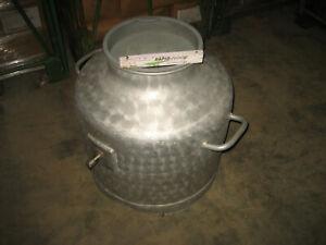 110 Liter Milchtank mobil Milchauffangbehälter Sauermilchtank Tank Aluminium