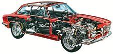Alfa Romeo GT 1300 Junior / 1968 - Bild Schnittzeichnung