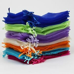 Wholesale Organza Gift Bags Jewelry Pouches Wedding Favour Party Candy Packing