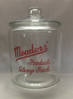 Vintage Meadors' Products Always Fresh Snack Jar With Lid