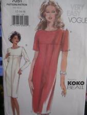 Vogue Sewing Pattern 7051 Woman's Dress 12 14 16