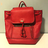 Accessorize Red Faux Leather Backpack Rucksack Handbag