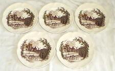 "Johnson Haddon Hall FIVE 7"" Salad Plates"