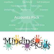 ACCOUNTS PACK - Simple logsheets to complete your childminding accounts! + GUIDE