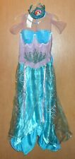 Rubie's Girls 8-10 Deluxe Mermaid Dress & Princess Ariel Tiara Crown Costume