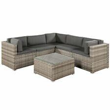 Gartenmöbel Polyrattan Lounge Rattan Gartenset Sitzgruppe beige-grau Juskys®