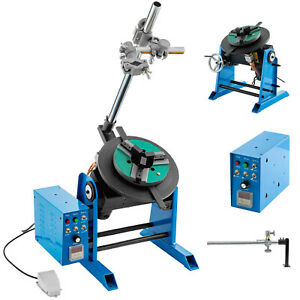 50KG Rotary Welding Positioner Turntable Timing 200mm Chuck Foot Switch 220V