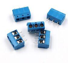 3 pin PCB x1 BLUE 5.08mm Terminal Block Screw Connector KF301-3P DIY PCB Socket