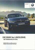 BMW 3er F30 Betriebsanleitung 2016 Bedienungsanleitung Handbuch Bordbuch BA