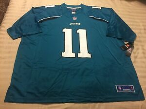 Men's NFL Football Jacksonville Jaguars Jersey QB #11 Blaine Gabbert 4XL Teal