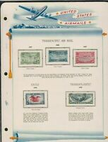 united states transpacific airmails issues of 1935-39 stamps page ref 18035