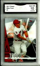 2017 Topps Finest # 1 Mike Trout Graded Gem Mint 10 Los Angeles Angels