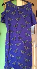 B Beautiful Primark Cold Shoulder Dress Size 8 Butterflies