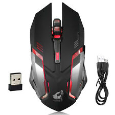 X7 2.4Ghz 2000DPI PC Laptop Profesional Wireless Gaming Mouse Ratones Negro LED