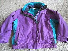 Womens Columbia Bugaboo 3 in 1 Jacket with Zip Out Fleece Lining, Size M, Purple
