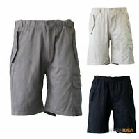 NEW Mens Cotton Drill Work Utility Casual Cargo Shorts B Black Tan Olive S-2XL