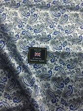 Silver Paisley Printed Satin Jacket Lining Dress Fabric.