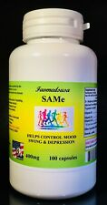 SAM-e 400mg Depression, joint pain, mood stability - 100 Capsules, Made in USA.