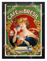Historic Cafe Du Bresil Coffee 1900s Advertising Postcard