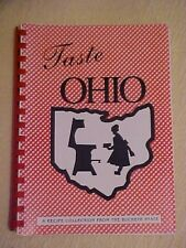 1995 Cookbook, TASTE OHIO A RECIPE COLLECTION FROM THE BUCKEYE STATE