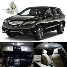 13 x Pure White LED Interior Lights Package Kit Deal For Acura RDX 2013 - 2018