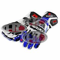 New Motorbike Suzuki GSXR Motogp Racing leather Gloves