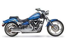 2008-2010 Hard Krome 2-Into-1 Sideburners Chrome Yamaha Raider; 44-4080