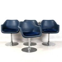 Robin Day Hiller Chairs - Set of Four Blue Swivel Chair by Robin Day, not Eames,