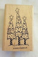 Stampin Up 1 Stamp from Holiday Hello set 3 Christmas Trees 2000