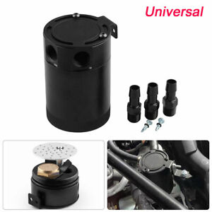 """1X Auto Racing Baffled 3-Port Oil Catch Can/Tank/Air-Oil Separator Kit 3/8"""" NPT"""