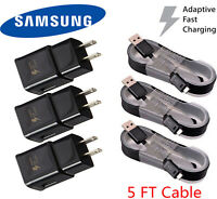 Adaptive Rapid Fast Charger for Samsung Galaxy S7 S6 Edge Note 5 Note 4  LOT