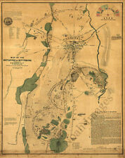 Map of the battlefield of Gettysburg c1864 24x30