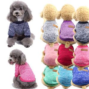 Dog Pet Coat Knitwear Thickening Puppy Cat Warm Fleece Clothing Apparel Sweater