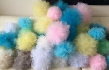 41 Large tulle net Pom Poms Wedding birthday baby party Decorations Pastels